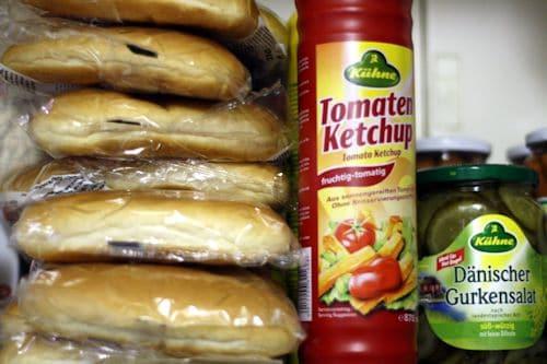 Stuff für 32 Hot Dogs gekauft