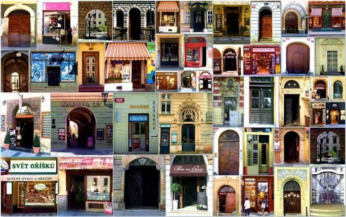 Schaufenster und Tore Prag