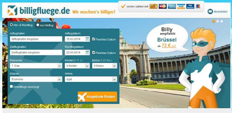 Billig Fliegen - günstige Flüge und Billigflüge- Top reduzierte Flug Preise direkt vom Ticketgroßhändler - Billigfluege.de