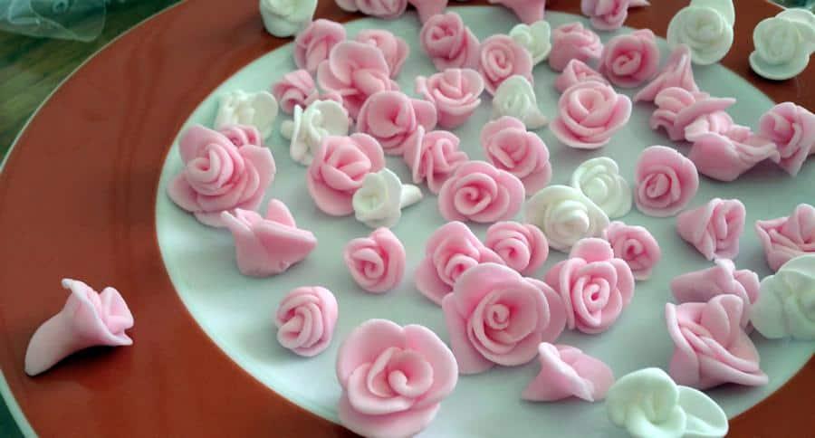 Rosen aus Fondant