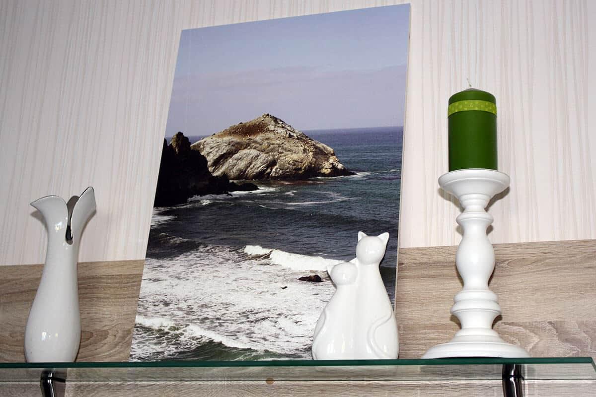Foto auf Holz gedruckt