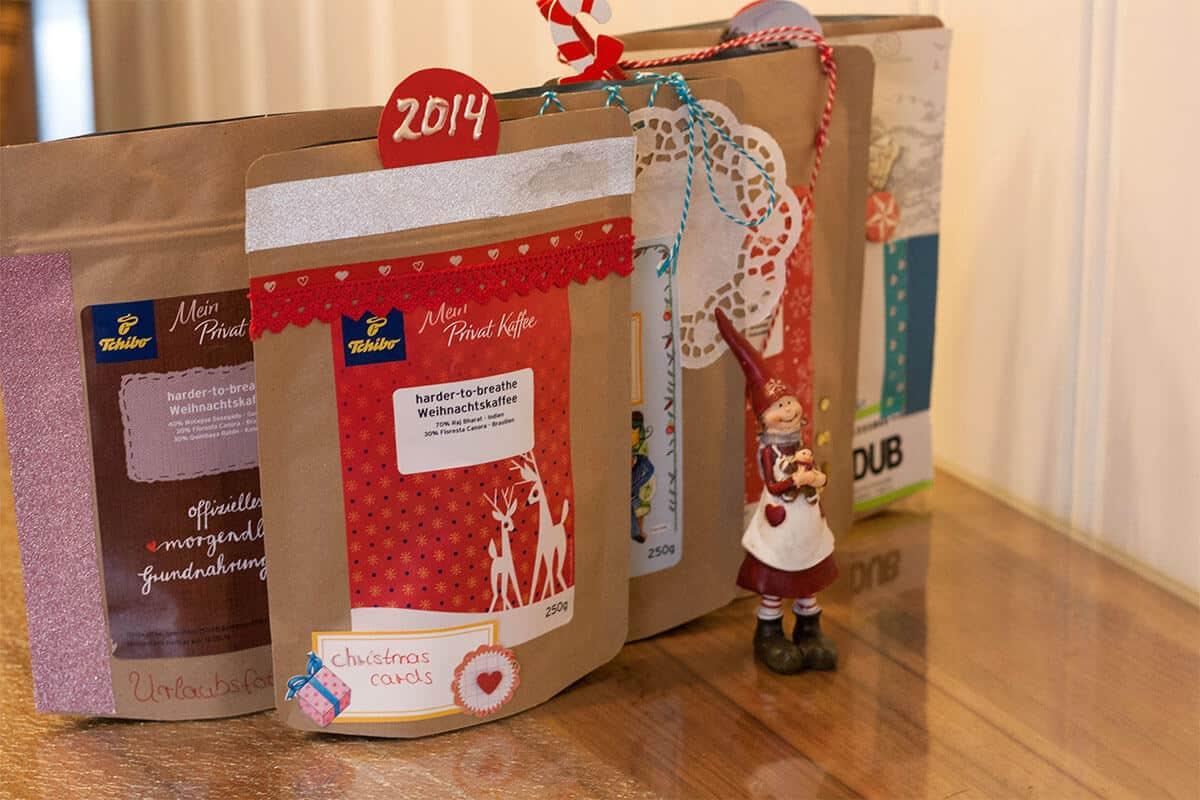 tchibo Weihnachtskaffee Tüten