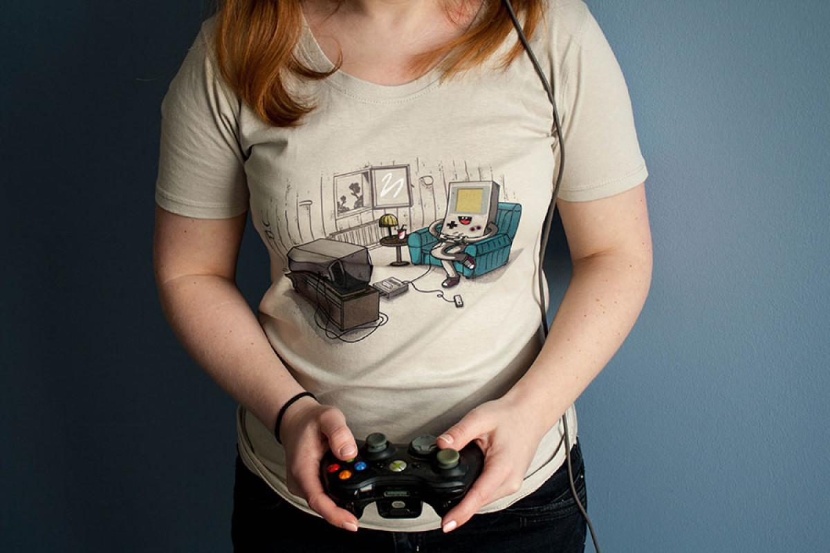 Nintendo auf Shirt
