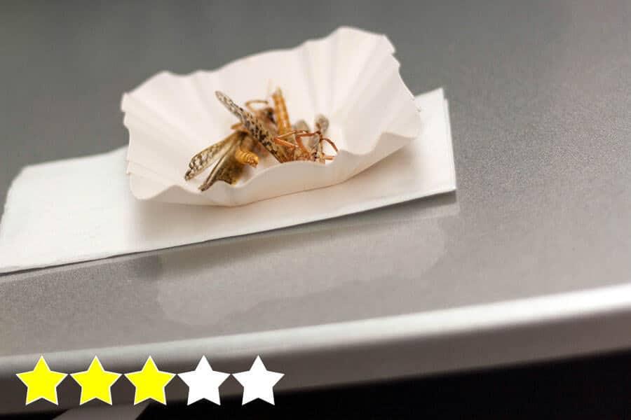 frittierte Insekten