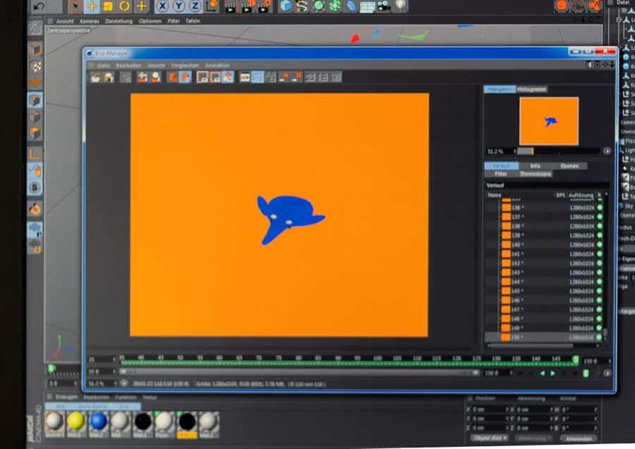 Ihr kennt das. Man muss einen wichtigen Animationsfilm machen, stattdessen animiert man den kleinen blauen Elephant.
