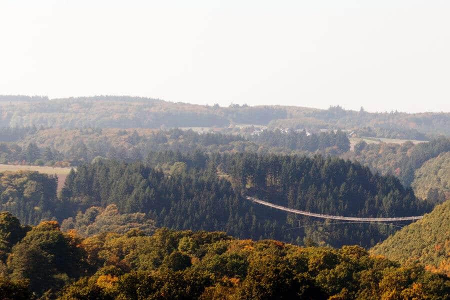 Hängeseilbrücke Geierlay vonweit