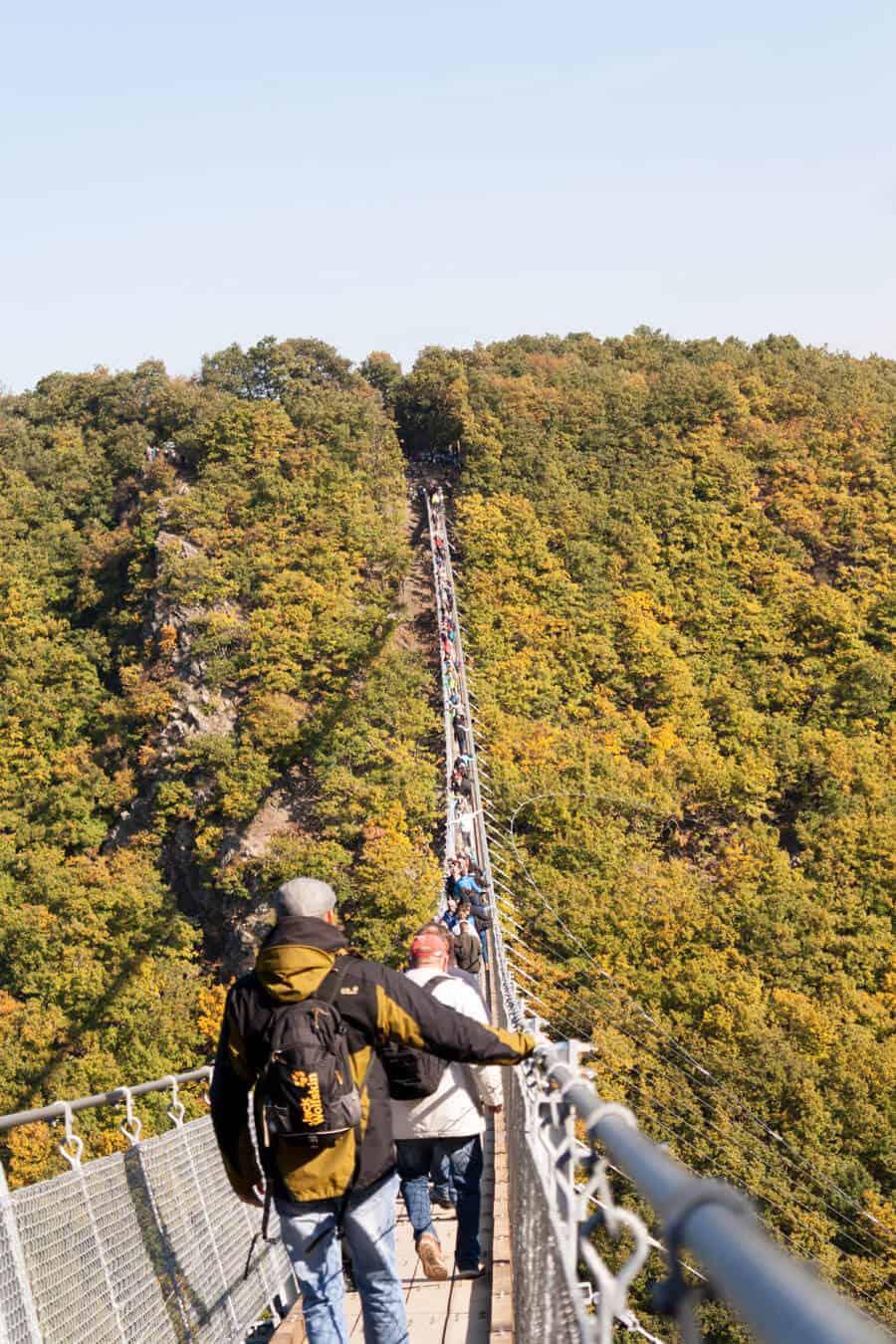 Hängeseilbrücke Geierlay Menschen