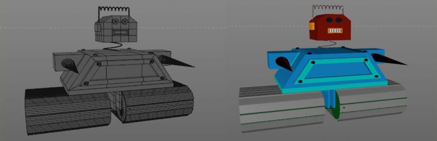 Modellierung des Roboters