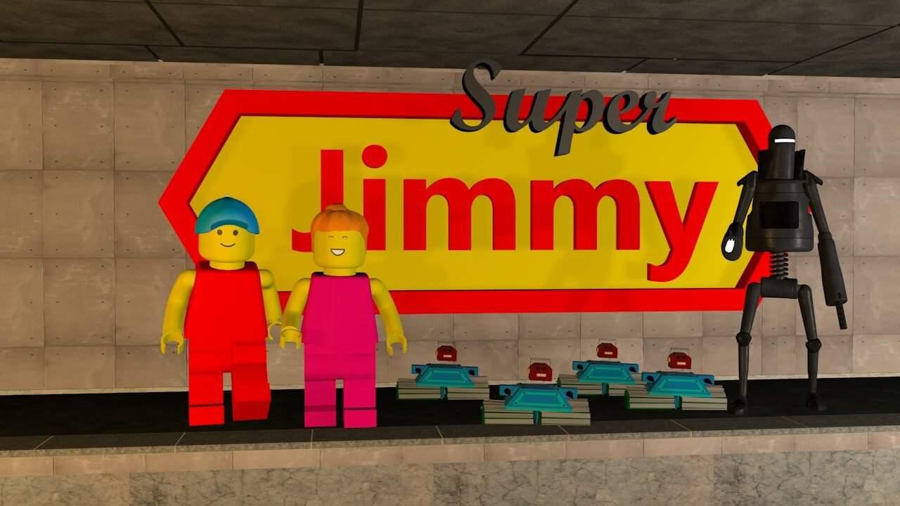 Super Jimmy rettet das Mädchen