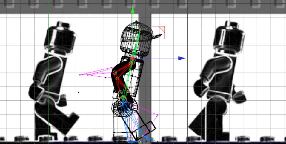 Blueprint der Geh-Animation