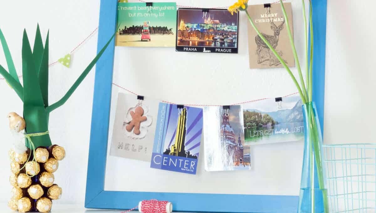 Postkarten aufhängen