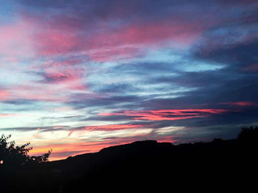 Ein wunderschöner Sonnenuntergang.
