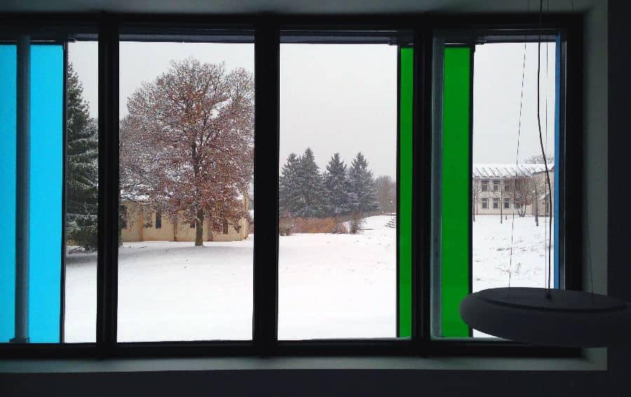 Schnee am Umwelt-Campus