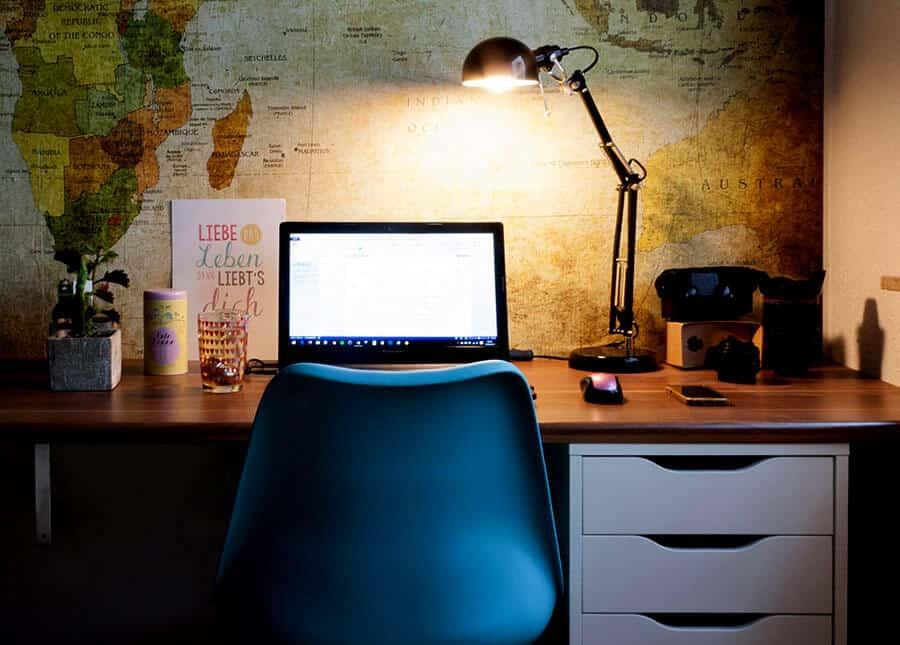 Weltkarte Tapete Büro
