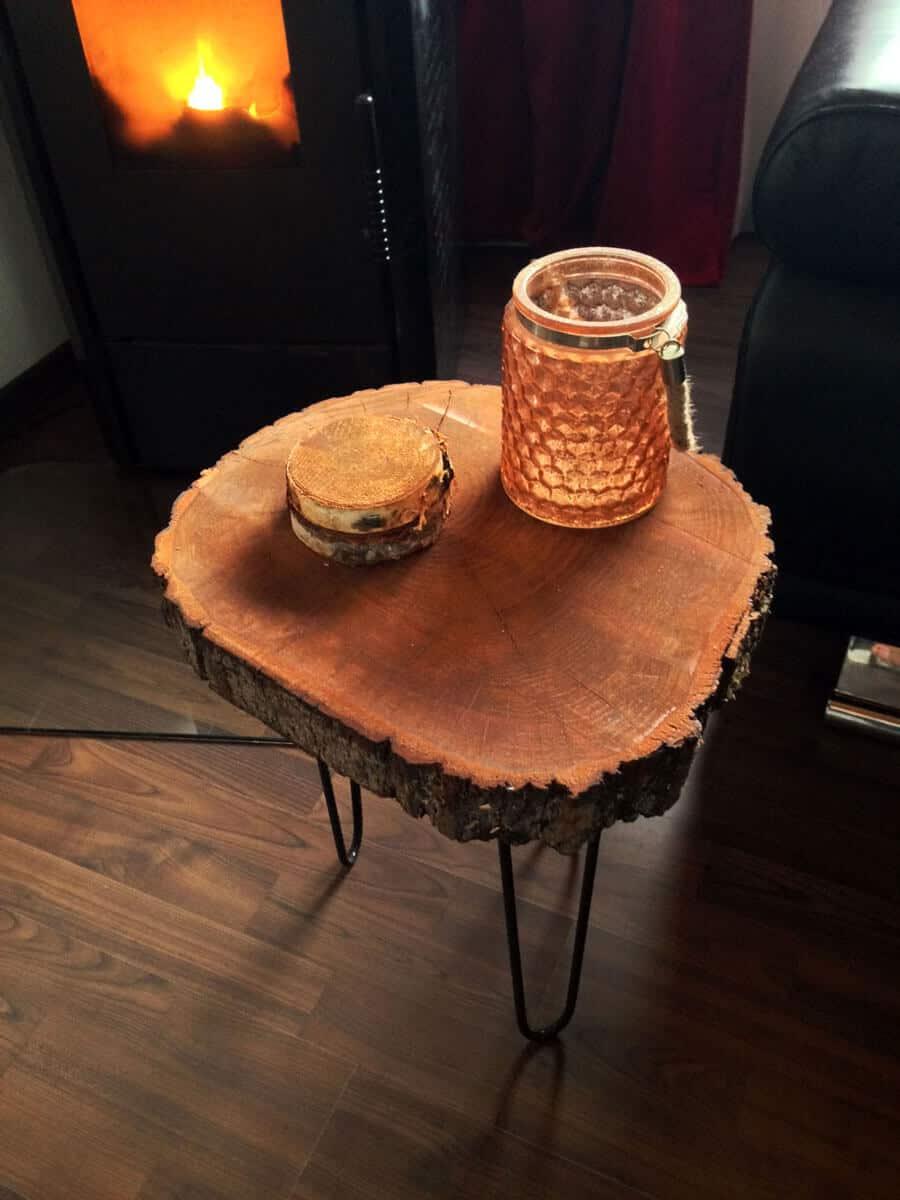 Wohnzimmer DIY Beistelltisch