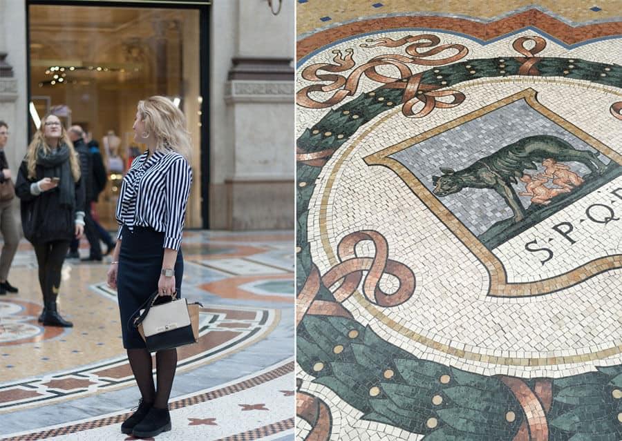 Eingang Galleria-Vittorio-Emanuele-Mailand