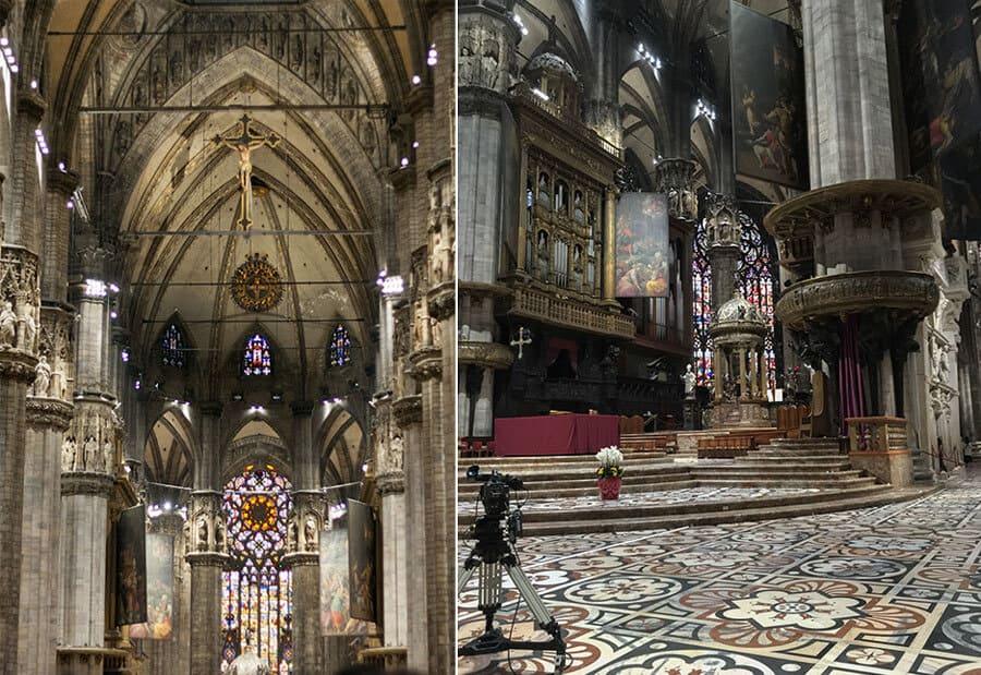 Dom Mailand im Innerem
