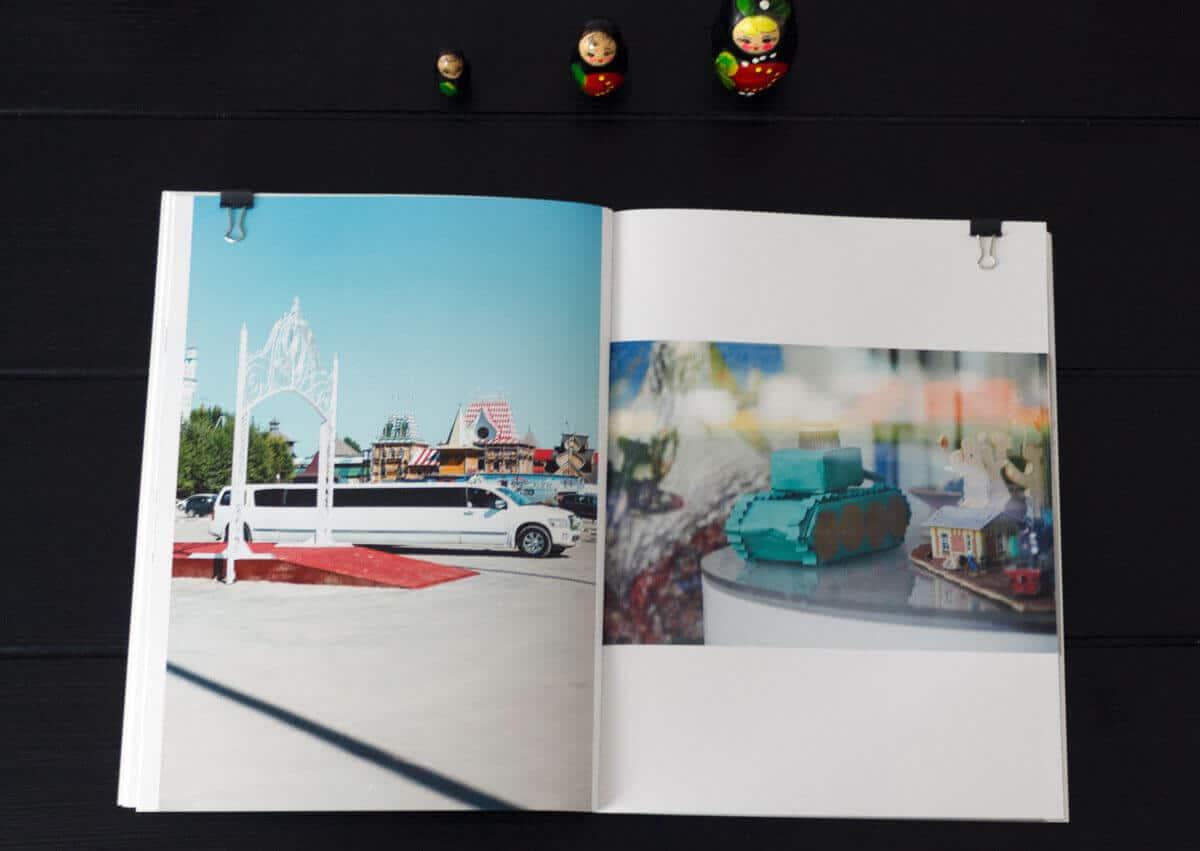 Innenseite vom Fotobuch Sandra Ratkovic - Moskau Москва Fotobuch