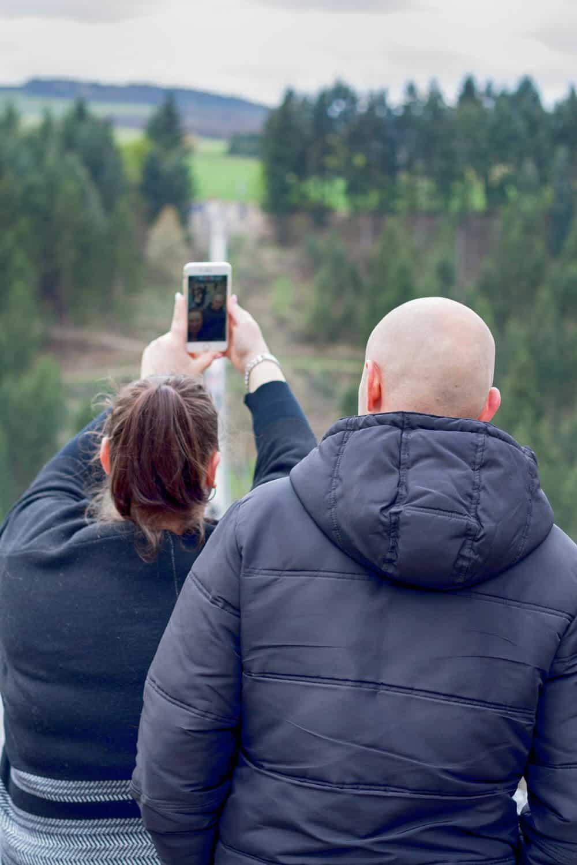 Selfi auf der Brücke