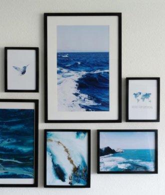 Das Meer im Wohnzimmer auf der Wand