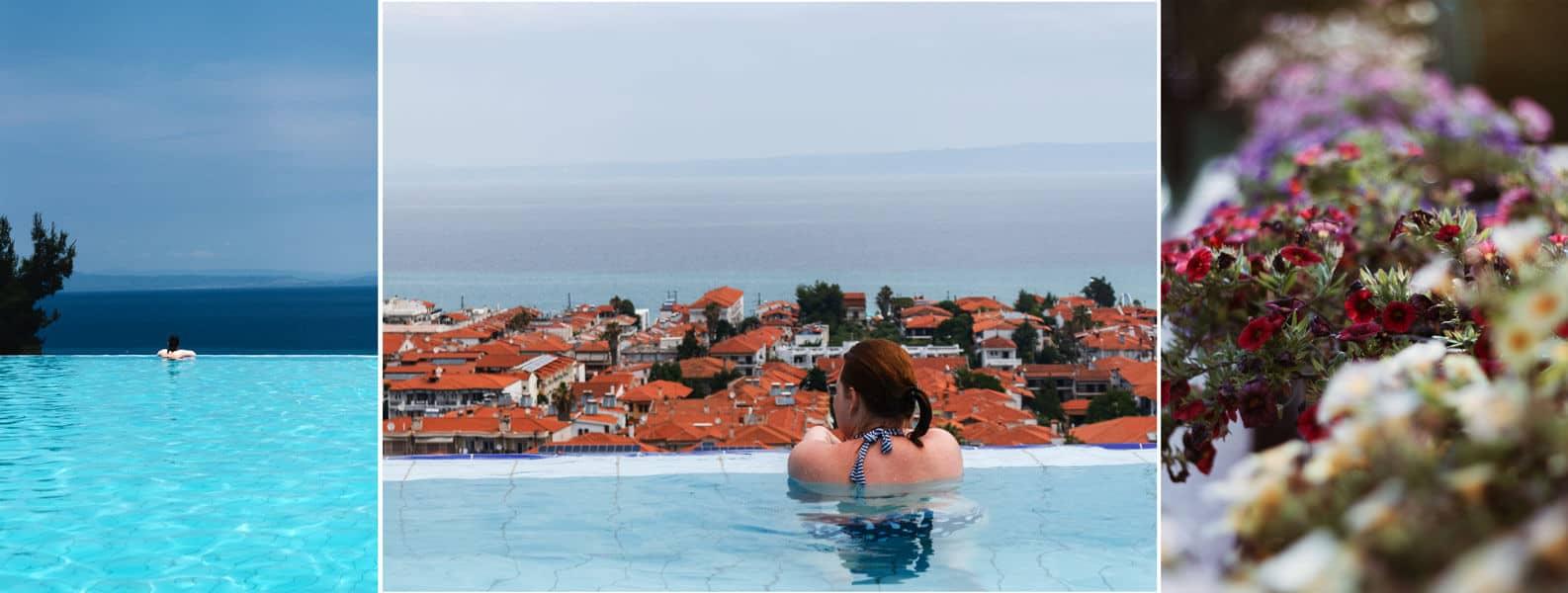 Im Pool sitzen und aufs Meer schauen <3
