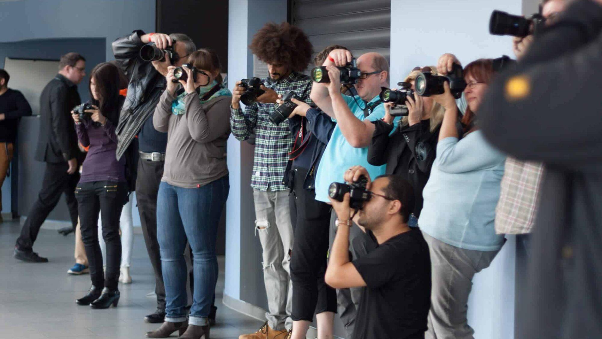 Die Fotografen bei der Foto uni