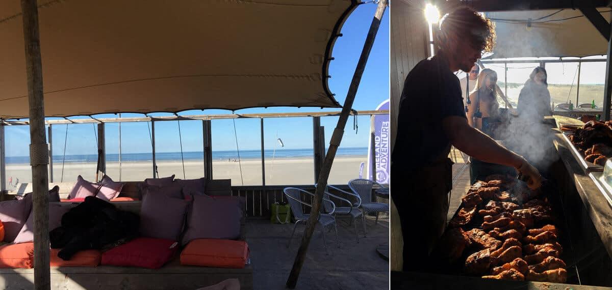 Strandbar und BBQ am Strand