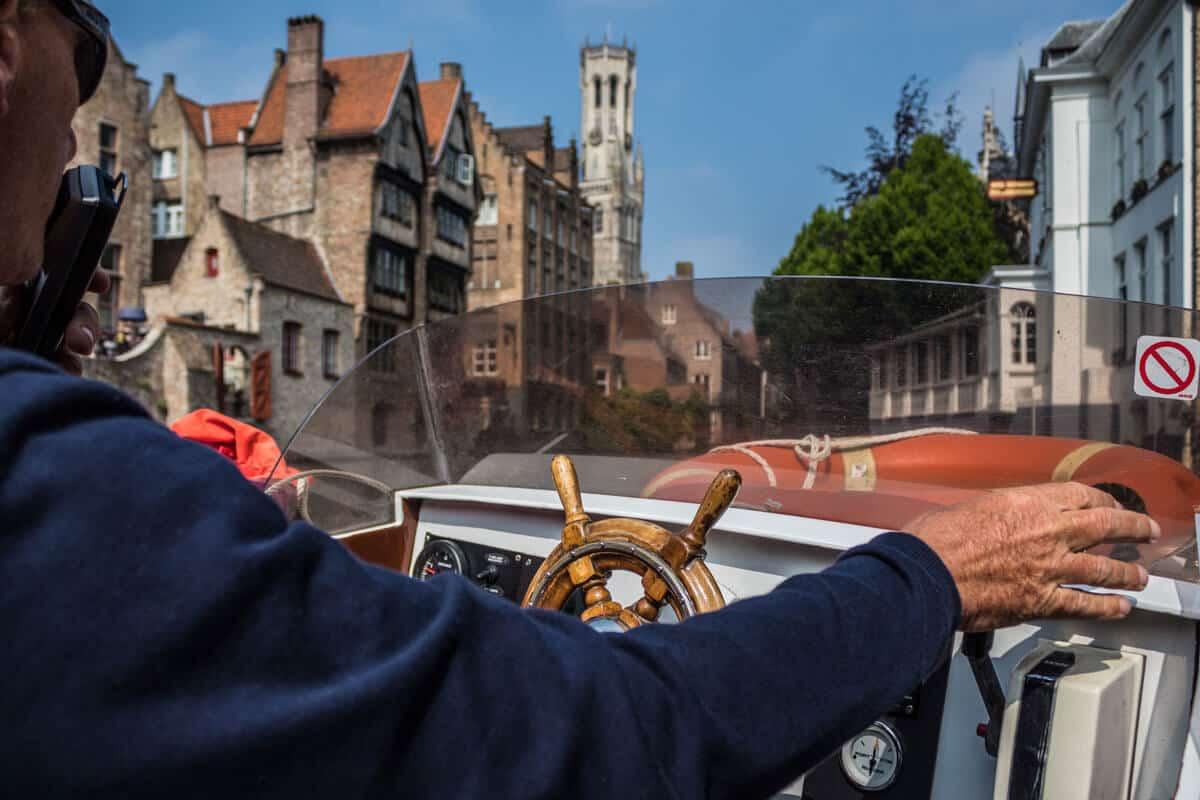 Boot Fahrt in Brügge