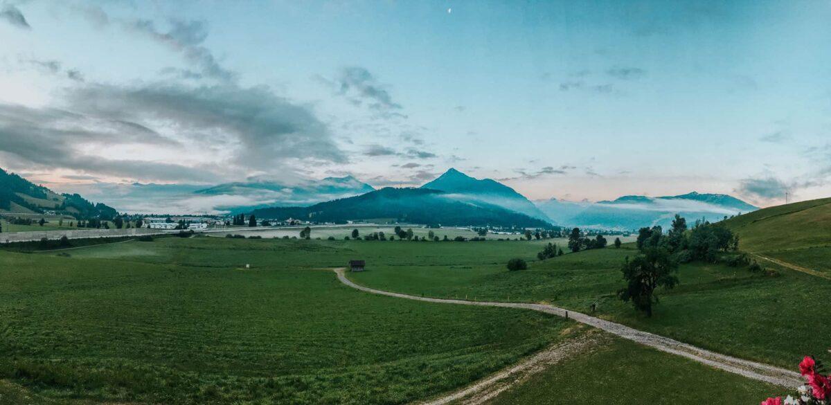 Österreich Panorama Berge und Wolken